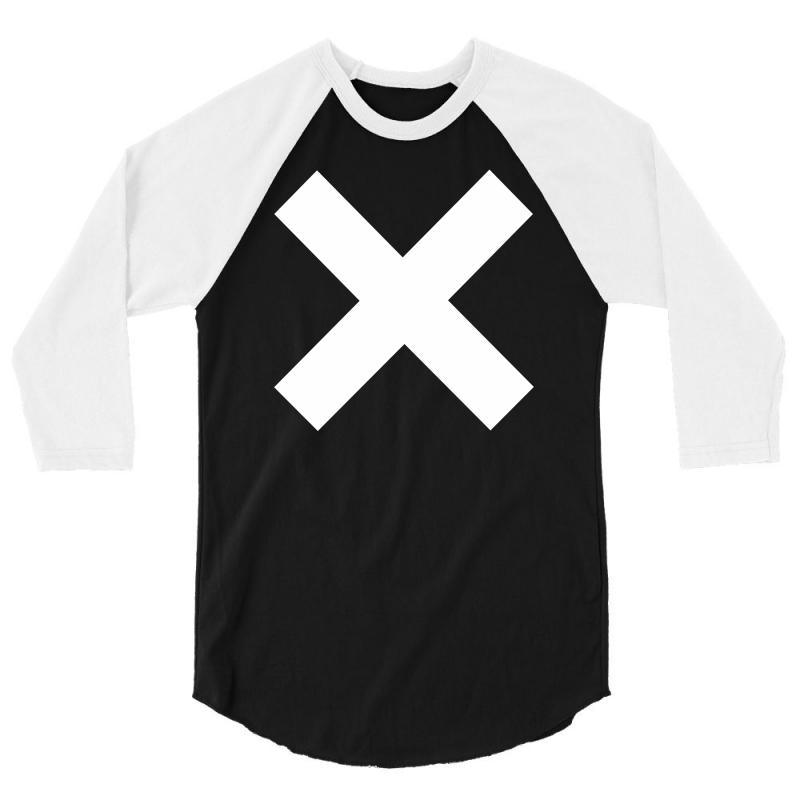 Cross Logo 3/4 Sleeve Shirt   Artistshot