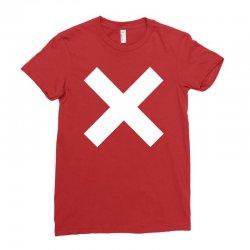 cross logo Ladies Fitted T-Shirt | Artistshot