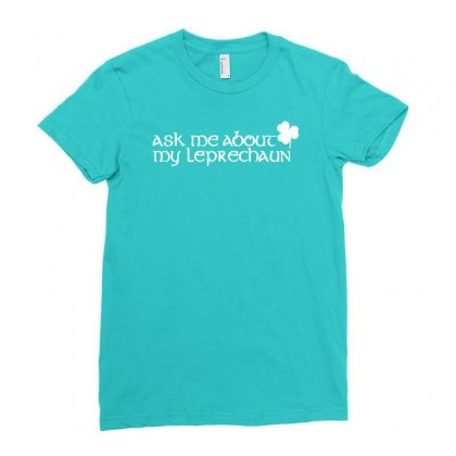 St Patricks Day Leprechaun Ladies Fitted T-shirt Designed By Mdk Art