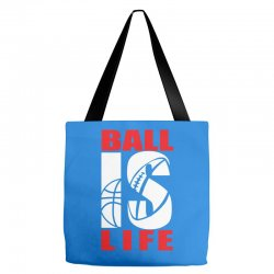 ball is life funny sports Tote Bags | Artistshot