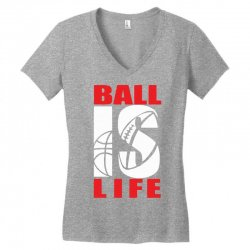 ball is life funny sports Women's V-Neck T-Shirt | Artistshot