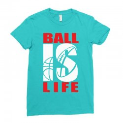 ball is life funny sports Ladies Fitted T-Shirt | Artistshot