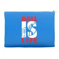 ball is life funny sports Accessory Pouches | Artistshot