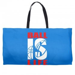 ball is life funny sports Weekender Totes | Artistshot