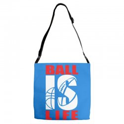 ball is life funny sports Adjustable Strap Totes | Artistshot