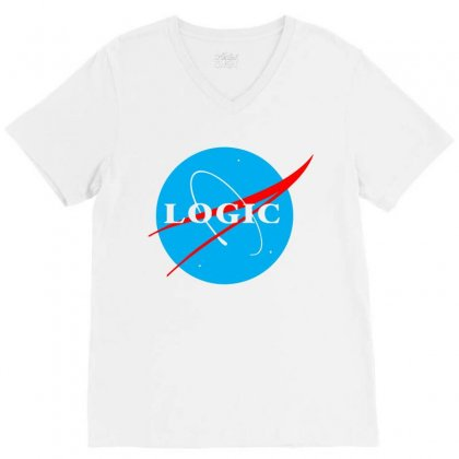 Logic Nasa V-neck Tee Designed By Killakam