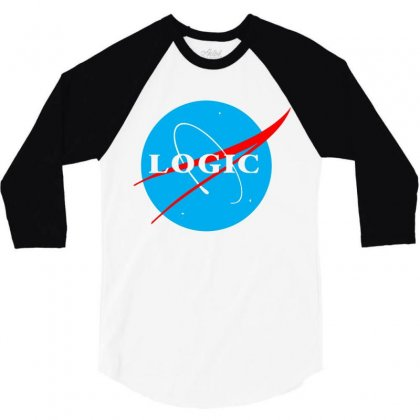 Logic Nasa 3/4 Sleeve Shirt Designed By Killakam
