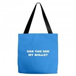 can you see my balls sports football basketball Tote Bags | Artistshot