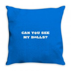 can you see my balls sports football basketball Throw Pillow | Artistshot