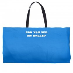 can you see my balls sports football basketball Weekender Totes | Artistshot