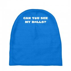 can you see my balls sports football basketball Baby Beanies | Artistshot