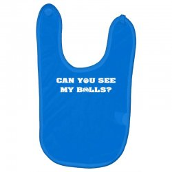 can you see my balls sports football basketball Baby Bibs | Artistshot