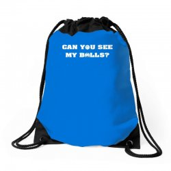 can you see my balls sports football basketball Drawstring Bags | Artistshot