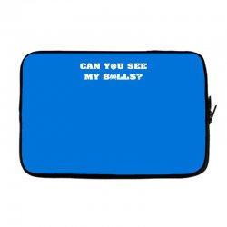 can you see my balls sports football basketball Laptop sleeve | Artistshot