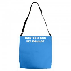 can you see my balls sports football basketball Adjustable Strap Totes | Artistshot
