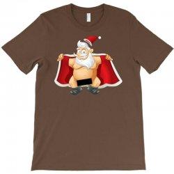 funny flashing naked nude christmas santa claus T-Shirt | Artistshot