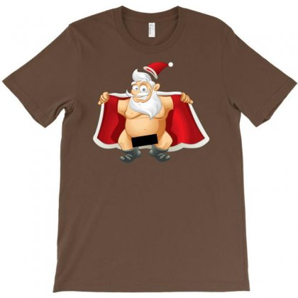 Funny Flashing Naked Nude Christmas Santa Claus T-shirt Designed By Mdk Art