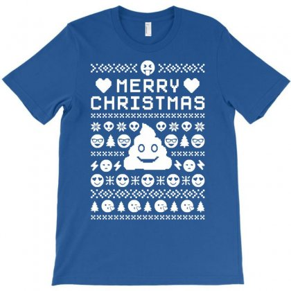 Funny Ugly Christmas Smiley Emoticon T-shirt Designed By Mdk Art