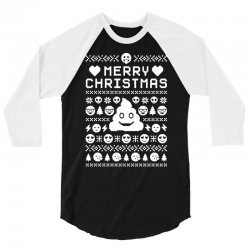 funny ugly christmas smiley emoticon 3/4 Sleeve Shirt | Artistshot