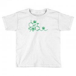 thc pot leaf molecule Toddler T-shirt   Artistshot