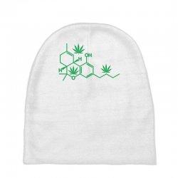 thc pot leaf molecule Baby Beanies   Artistshot