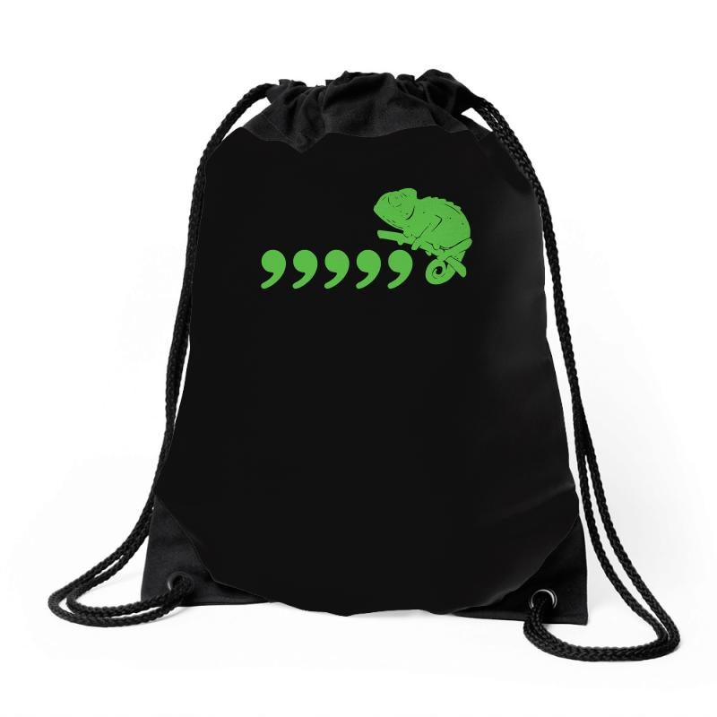 2954cf924 Custom Comma Chameleon Drawstring Bags By Mdk Art - Artistshot