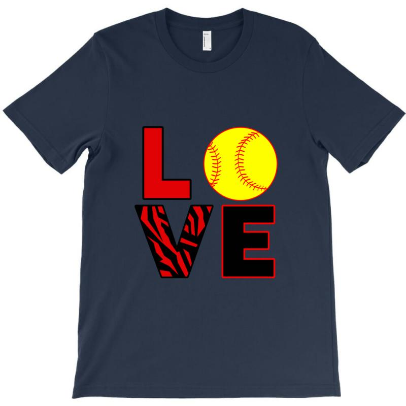 02151d5a Custom Love Softball T-shirt By Rita - Artistshot
