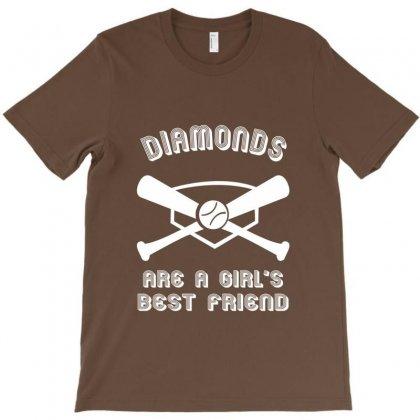 Diamonds Are A Girls Best Friend Girls Softball Shirt Funny Women Spor T-shirt Designed By Rita