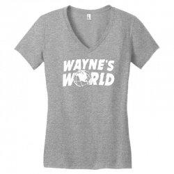 wayne's world Women's V-Neck T-Shirt   Artistshot