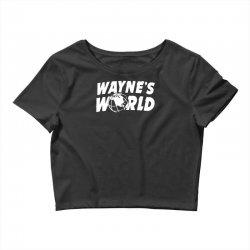 wayne's world Crop Top   Artistshot