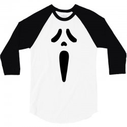 scream mask 3/4 Sleeve Shirt | Artistshot