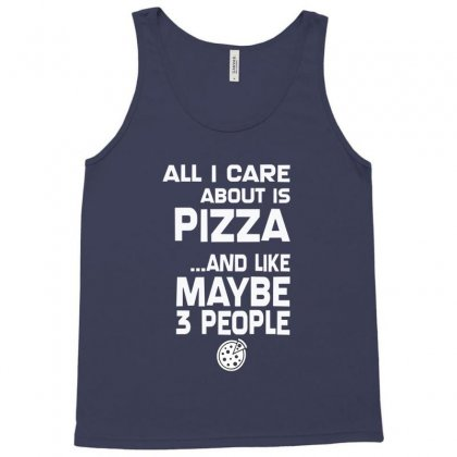 Care About Pizza And 3 People Girls Tank Top Designed By Rita