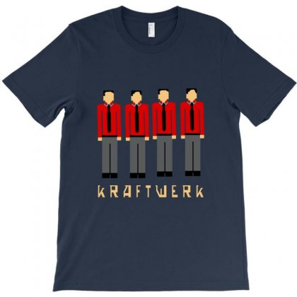 Pixelated Kraftwerk Turquoise Kids T-shirt Designed By Rita