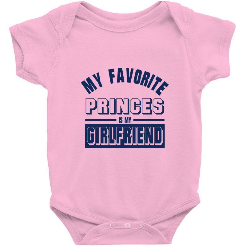 23788d6cf Custom My Favorite Disney Princess Is My Girlfriend Baby Bodysuit By ...
