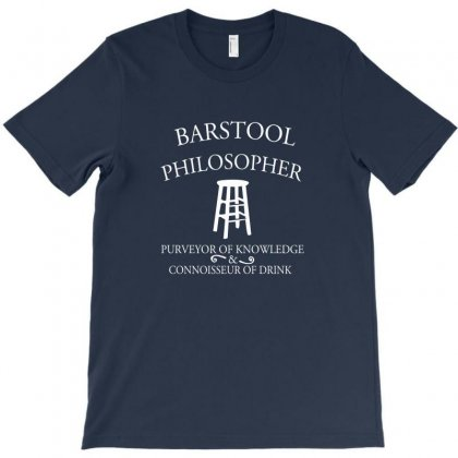 Barstool Philosopher T-shirt Designed By Rita