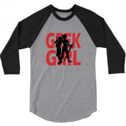 geek girl 3 4 sleeve baseball 3/4 Sleeve Shirt | Artistshot