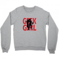 geek girl 3 4 sleeve baseball Crewneck Sweatshirt | Artistshot