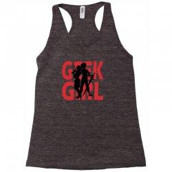 geek girl 3 4 sleeve baseball Racerback Tank | Artistshot