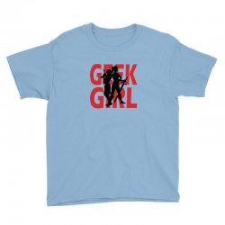 geek girl 3 4 sleeve baseball Youth Tee | Artistshot