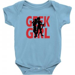 geek girl 3 4 sleeve baseball Baby Bodysuit | Artistshot