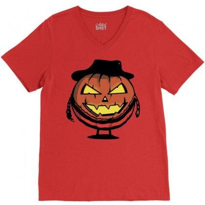 Halloween Evil V-neck Tee Designed By Sbm052017