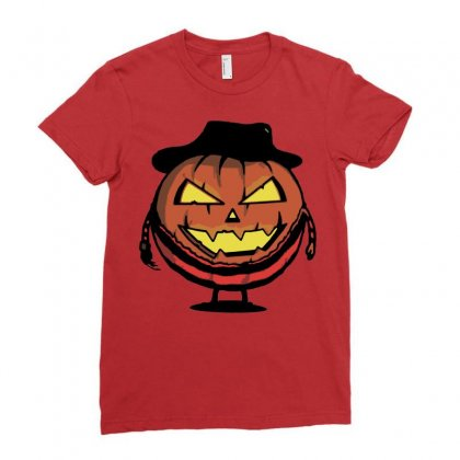 Halloween Evil Ladies Fitted T-shirt Designed By Sbm052017