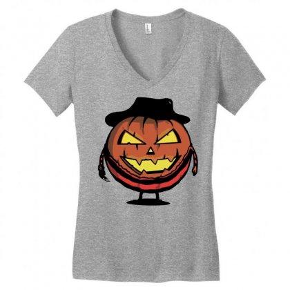 Halloween Evil Women's V-neck T-shirt Designed By Sbm052017