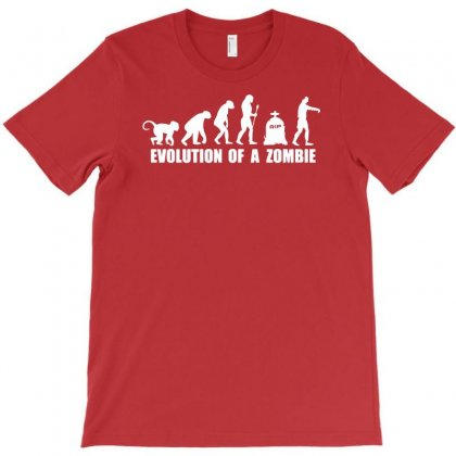 Evolution Of A Zombie T-shirt Designed By Mdk Art
