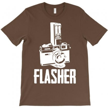 Flasher Camera T-shirt Designed By Mdk Art