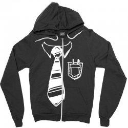 geek pocket protector tie Zipper Hoodie | Artistshot