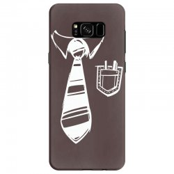 geek pocket protector tie Samsung Galaxy S8 | Artistshot