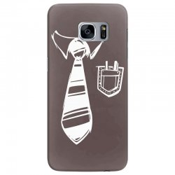 geek pocket protector tie Samsung Galaxy S7 Edge Case | Artistshot