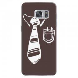 geek pocket protector tie Samsung Galaxy S7 | Artistshot