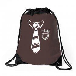 geek pocket protector tie Drawstring Bags | Artistshot